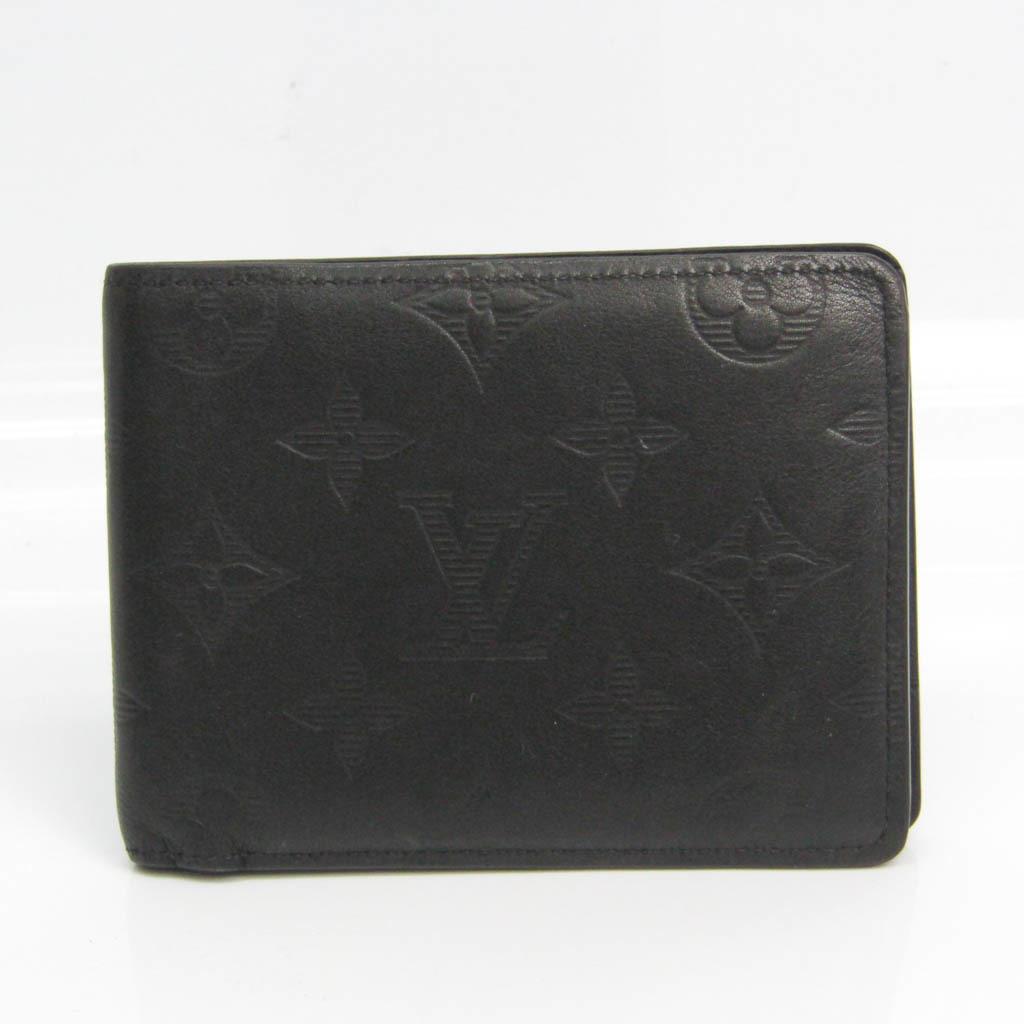 ルイ・ヴィトン(Louis Vuitton) ポルトフォイユ ミュルティプル モノグラムシャドウ M62901 メンズ レザー 札入れ(二つ折り) ノワール