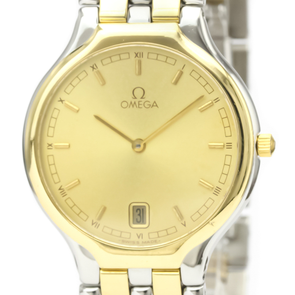 Omega De Ville Quartz Stainless Steel,Yellow Gold (18K) Men's Dress Watch 396.1016