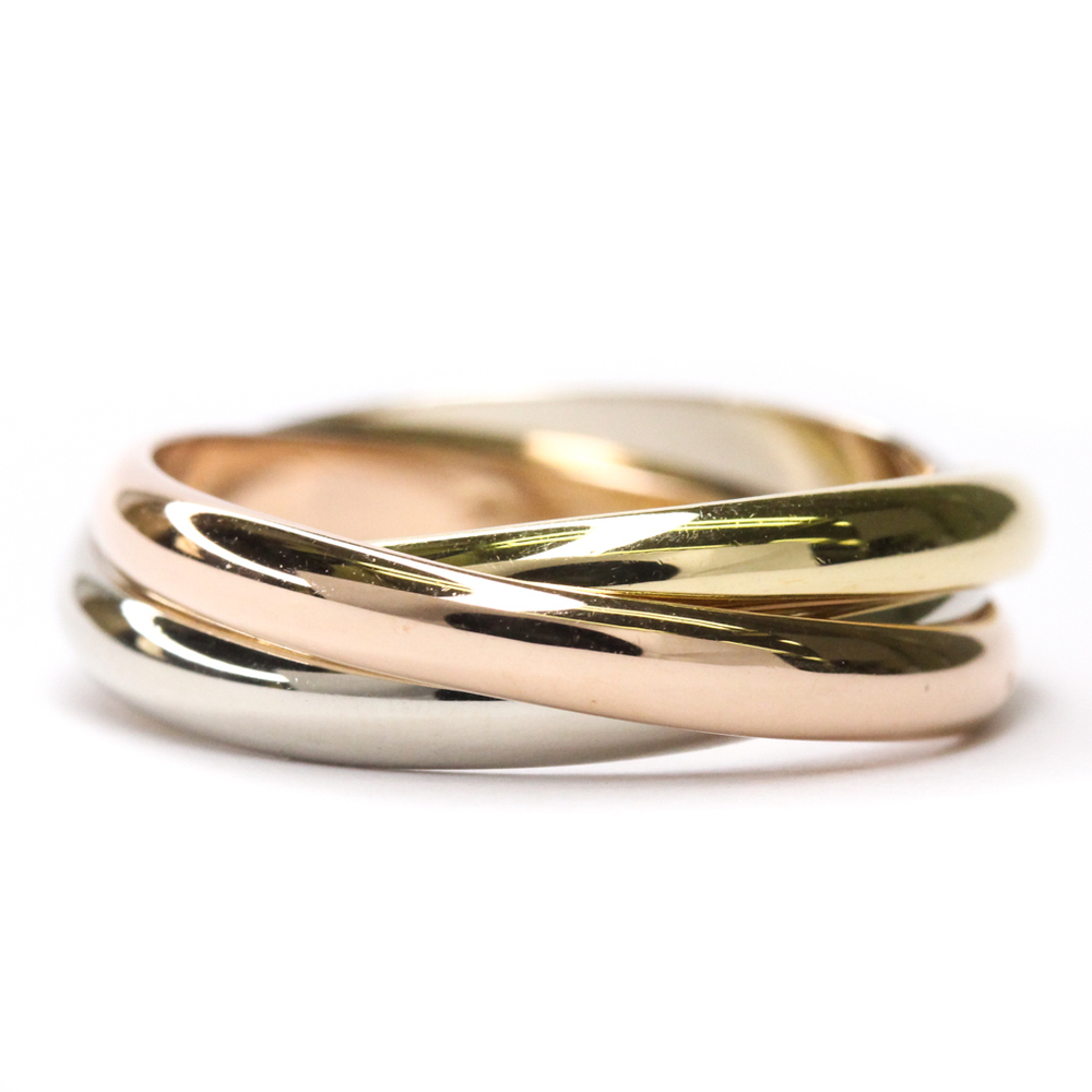 Cartier Trinity Pink Gold (18K),White Gold (18K),Yellow Gold (18K) Band Ring