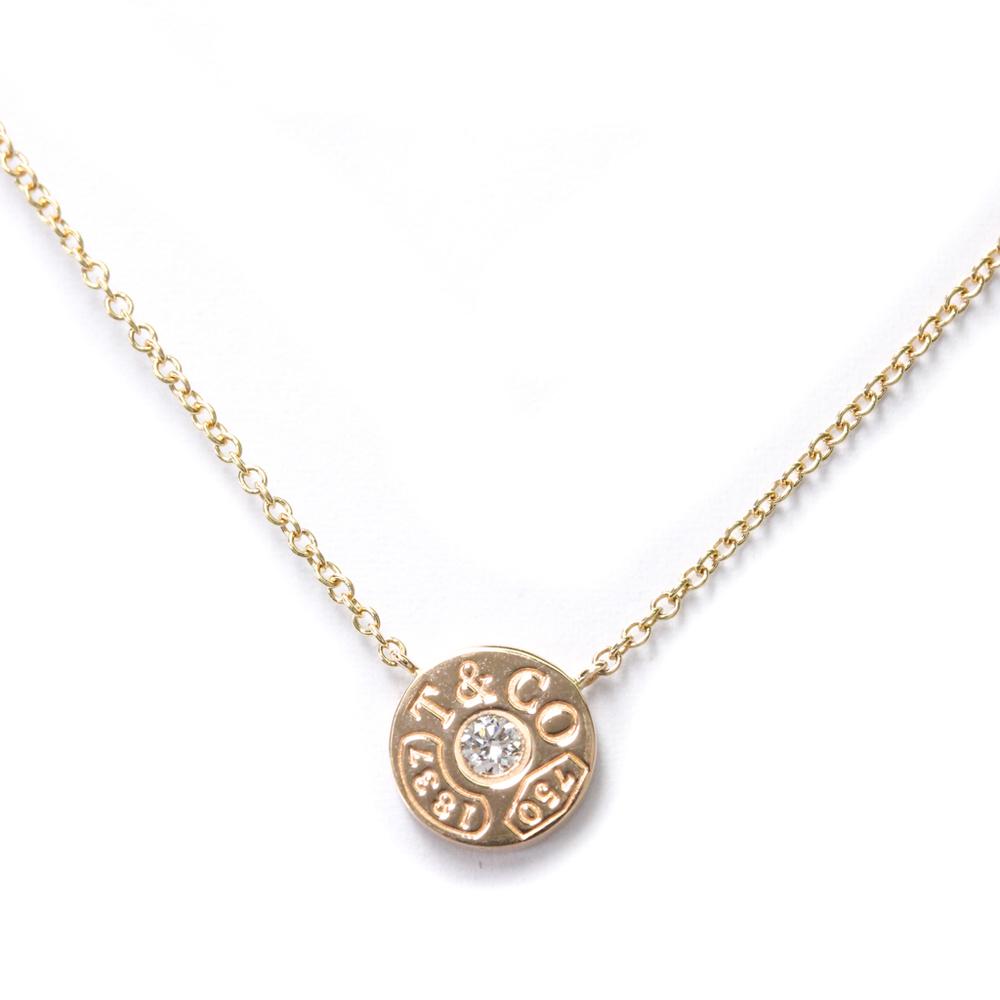 ティファニー(Tiffany) K18ピンクゴールド(K18PG) ダイヤモンド メンズ,レディース ペンダントネックレス 1837 サークル ネックレス
