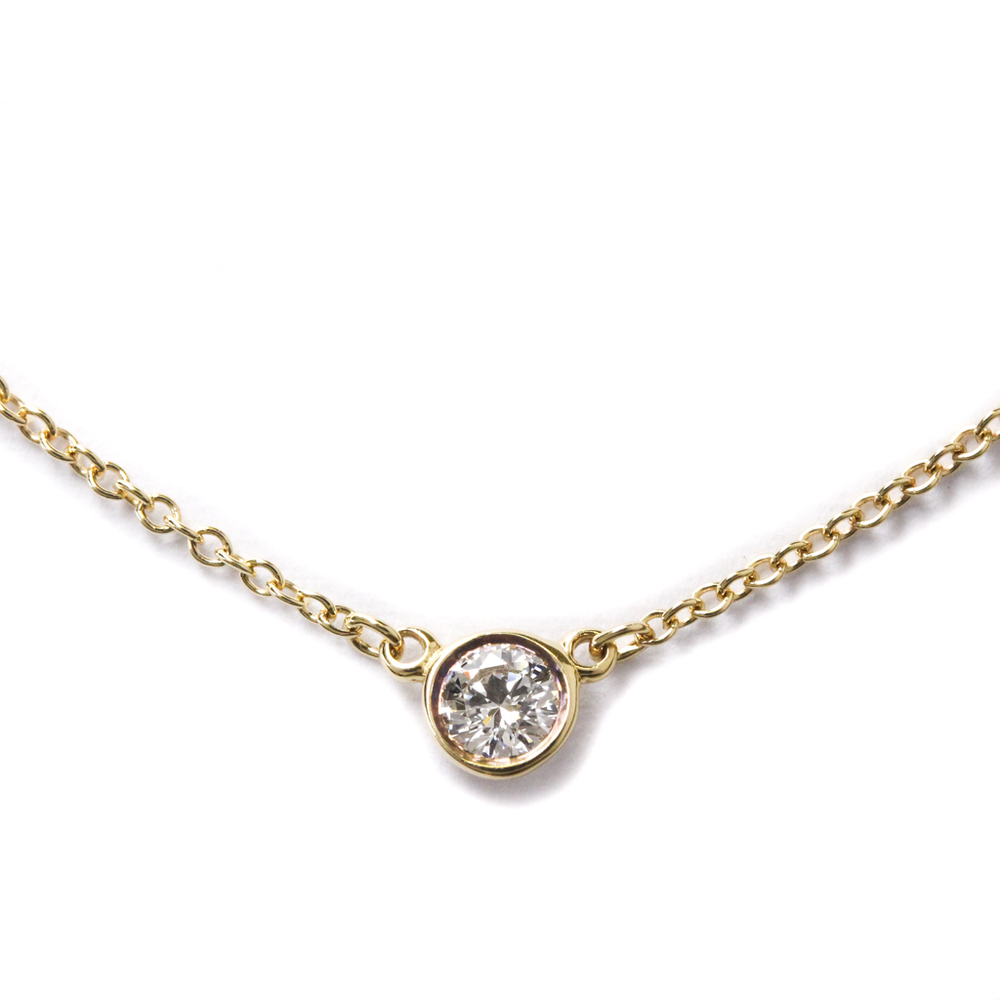 Tiffany Diamonds By The Yard By The Yard Yellow Gold (18K) Diamond Women's Necklace (Gold)