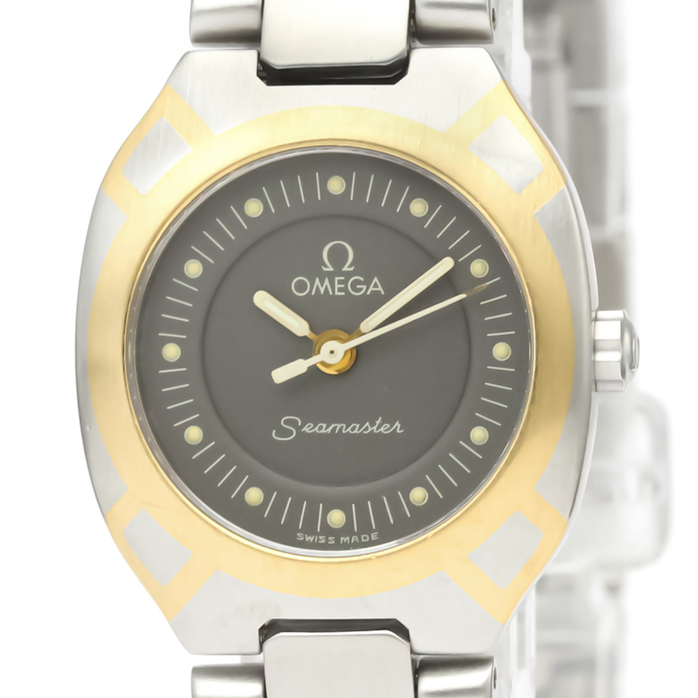 Omega Seamaster Quartz Yellow Gold (18K),Stainless Steel Women's Sports Watch 796.1022