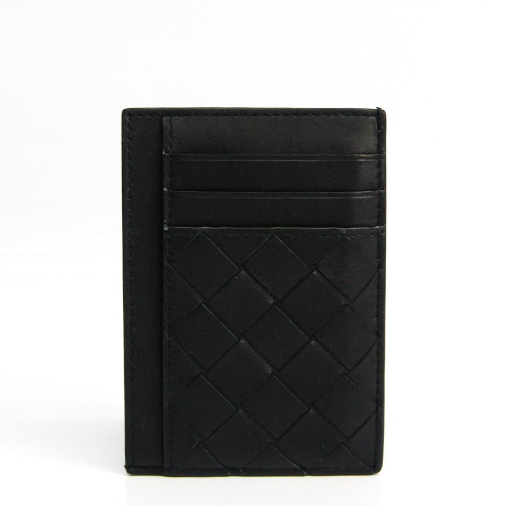 ボッテガ・ヴェネタ(Bottega Veneta) イントレチャート コインケース レザー カードケース ブラック