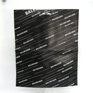 Balenciaga Shopper Tote 541906 Unisex Leather Handbag Black,White