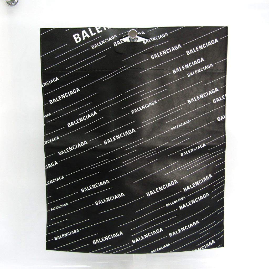 バレンシアガ(Balenciaga) ショッパートート 541906 ユニセックス レザー ハンドバッグ ブラック,ホワイト