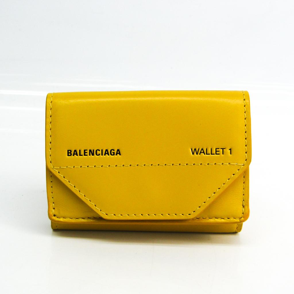 バレンシアガ(Balenciaga) コンパクトウォレット 529098 ユニセックス レザー 財布(三つ折り) イエロー