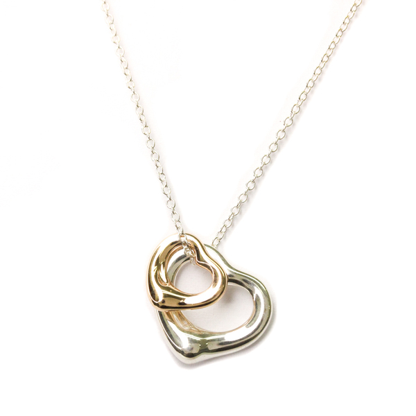 Tiffany Open Heart Pink Gold (18K),Silver 925 Men,Women Pendant Necklace