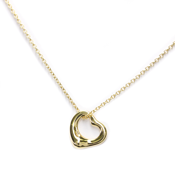 Tiffany Open Heart Yellow Gold (18K) Women,Men Pendant Necklace