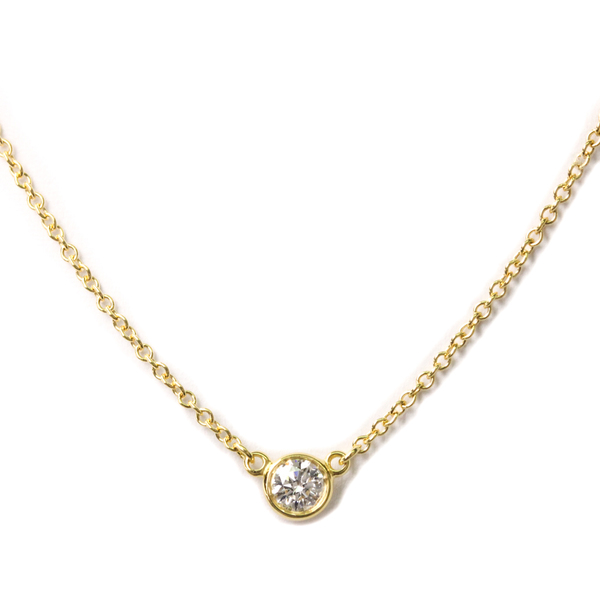 Tiffany Diamonds By The Yard By The Yard Yellow Gold (18K) Diamond Women,Men Pendant Necklace
