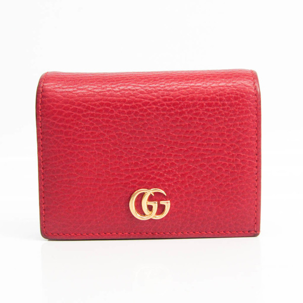 Gucci Petite Marmont 456126 Women's Leather Wallet (bi-fold) Red Color