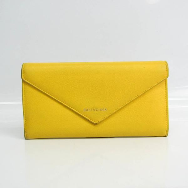 バレンシアガ(Balenciaga) ペーパー 499207 ユニセックス レザー 長財布(二つ折り) イエロー