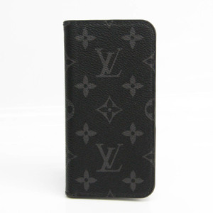 Louis Vuitton Monogram Eclipse Monogram Eclipse Phone Flip Case For IPhone X Monogram Eclipse iPhone X XS Folio M63446