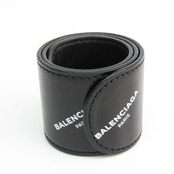 バレンシアガ(Balenciaga) サイクル レザー バングル ブラック,ホワイト