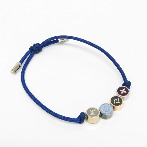 Louis Vuitton Brass Beads LV Colors Monogram M68264 Metal Bangle Multi-color,Royal Blue