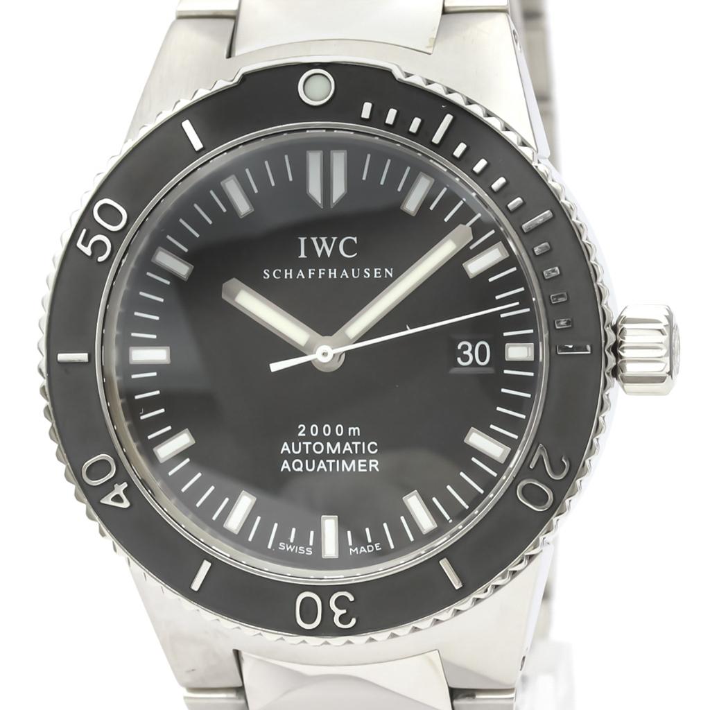 IWC アクアタイマー 自動巻き ステンレススチール(SS) メンズ スポーツウォッチ IW353602