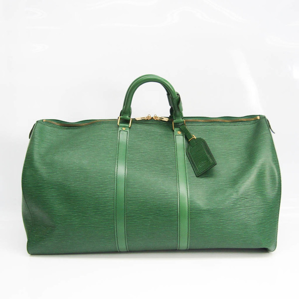 Louis Vuitton Epi Keepall 55 M42954 Women's Boston Bag Borneo Green
