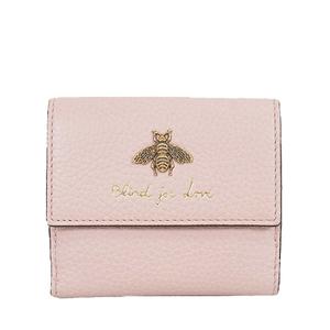 グッチ 三つ折り財布 アニマリエ 523190 レザー ピンク