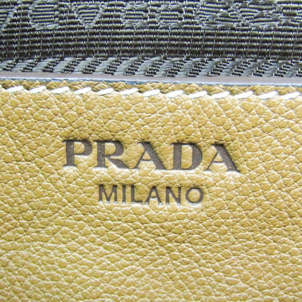 プラダ(Prada) レディース レザー ハンドバッグ,ショルダーバッグ ブラウン
