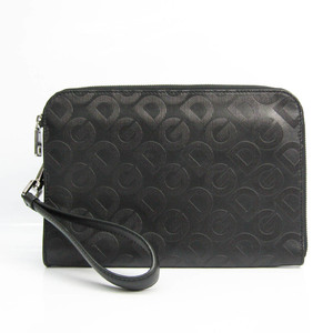 ドルチェ&ガッバーナ(Dolce & Gabbana) メンズ レザー クラッチバッグ ブラック