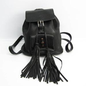 グッチ(Gucci) バンブー 387149 レディース レザー リュックサック ブラック