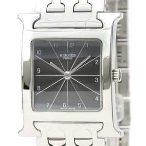 【HERMES】エルメス Hウォッチ ステンレススチール クォーツ メンズ 時計 HH1.510