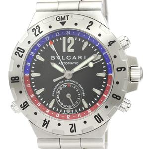 【BVLGARI】ブルガリ ディアゴノ プロフェッショナル GMT ステンレススチール 自動巻き メンズ 時計 GMT40S