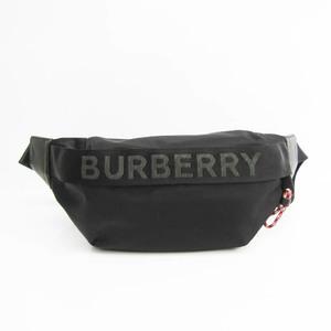 バーバリー(Burberry) ロゴディテール エコナイロン ソニーバムバッグ 8025668 ユニセックス レザー,ナイロン ショルダーバッグ,ボディバッグ ブラック