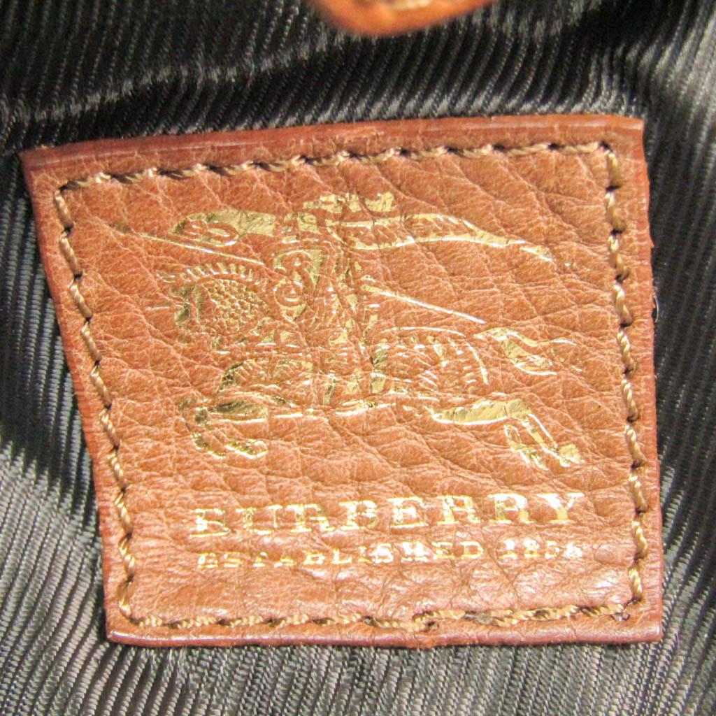 バーバリー(Burberry) キルティング レディース レザー,キャンバス ショルダーバッグ ベージュ,ブラック,ブラウン,クリーム,レッド