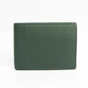 ボッテガ・ヴェネタ(Bottega Veneta) メンズ レザー 財布(二つ折り) ダークグリーン