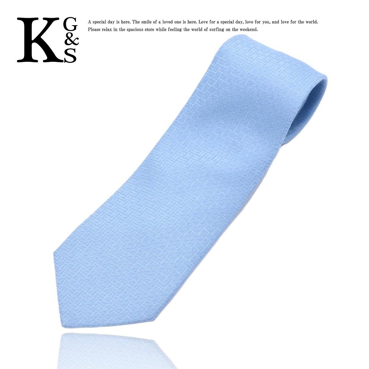 エルメス(Hermes) メンズ ネクタイ シルク ライトブルー