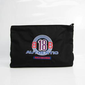 バレンシアガ(Balenciaga) CAPSULE AUTHENTIC 459745 ユニセックス ナイロンキャンバス クラッチバッグ ブラック,ブルー,レッド
