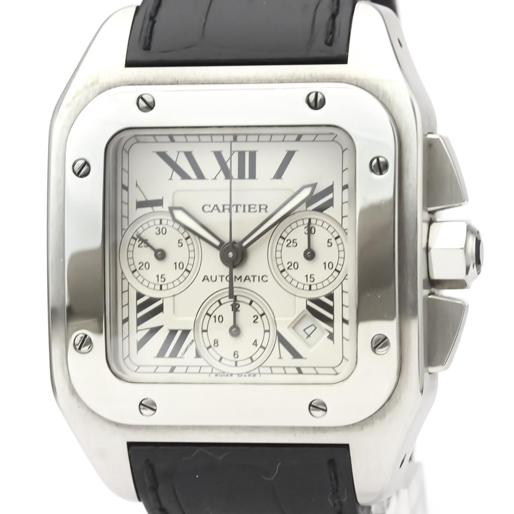 CARTIER Santos 100 Chronograph Steel Automatic Watch W20090X8
