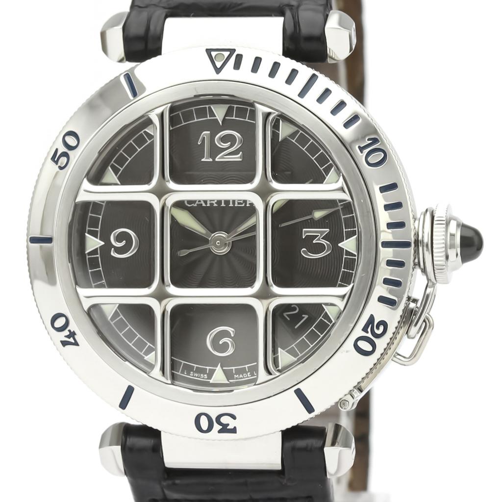 Cartier Pasha De Cartier Automatic Stainless Steel Men's Dress Watch W3105255