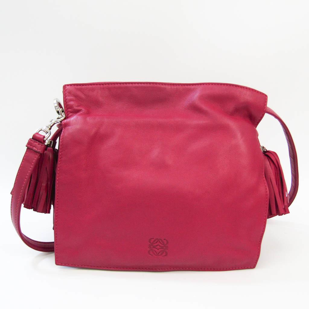 ロエベ(Loewe) フラメンコ 22 380.82EH39 レディース レザー ショルダーバッグ ピンク