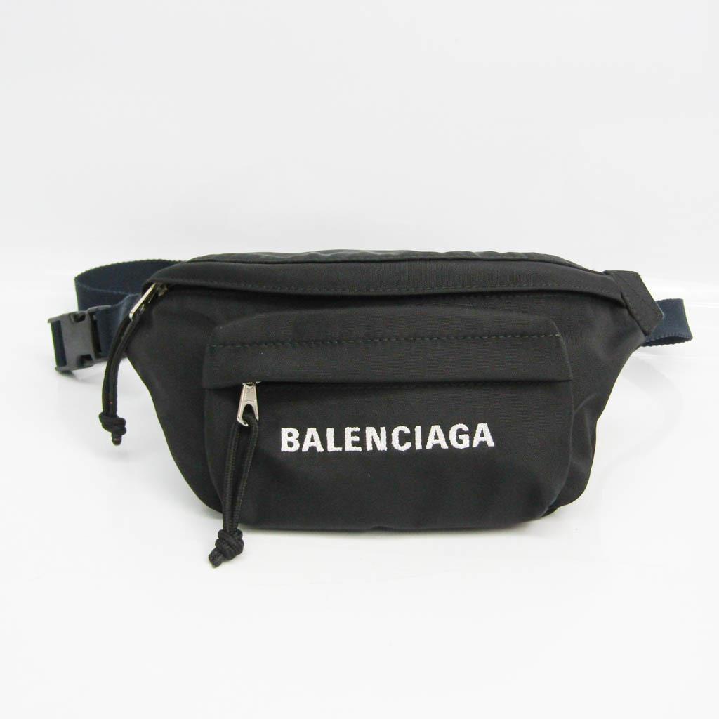 Balenciaga WHEEL BELTPACK S 569978 Unisex Nylon Sling Bag Black,Navy,White