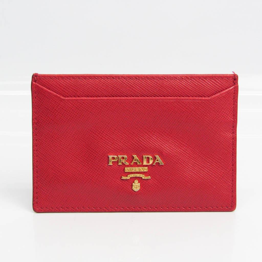 プラダ(Prada) 1M0208 Saffiano Metal カードケース Fuoco(フオッコ)