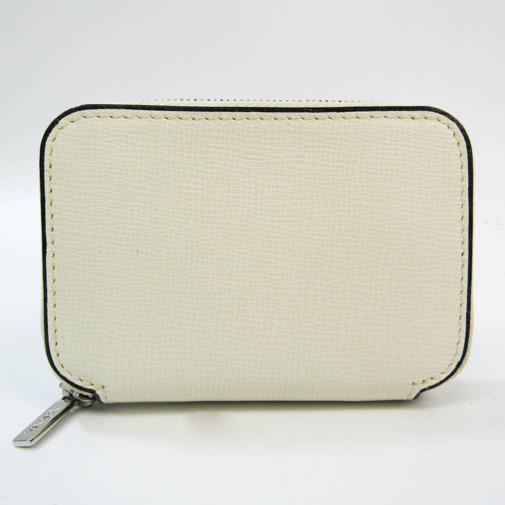 Valextra Zip Around Card Folder V2L10 Leather Card Case Off-white