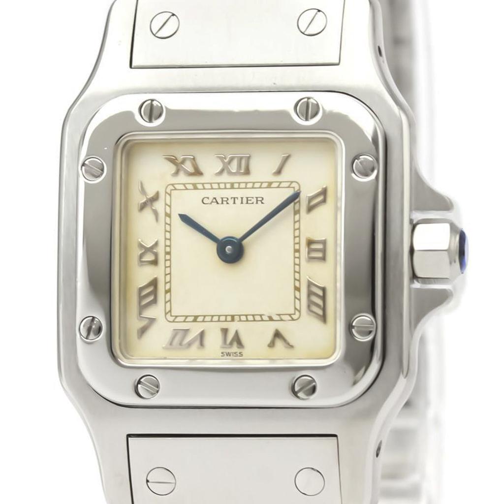 Cartier Santos Galbee Quartz Stainless Steel Women's Dress Watch