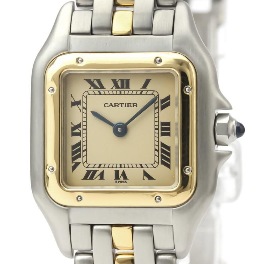 Cartier Panthere De Cartier Quartz Stainless Steel,Yellow Gold (18K) Women's Dress Watch