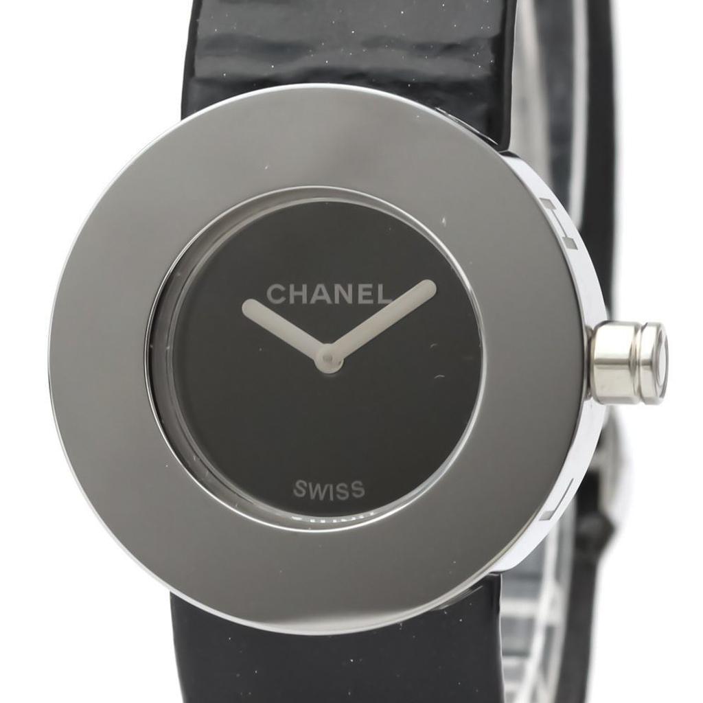 CHANEL La Ronde Steel Leather Quartz Ladies Watch H0579