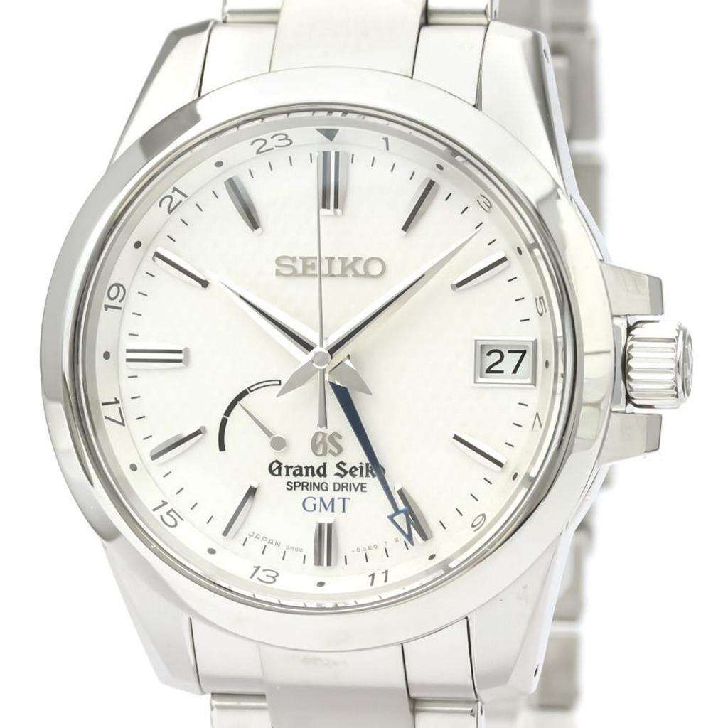 【GRAND SEIKO】グランドセイコー スプリングドライブ GMT ステンレススチール メンズ 時計 SBGE009(9R66-0AE0)