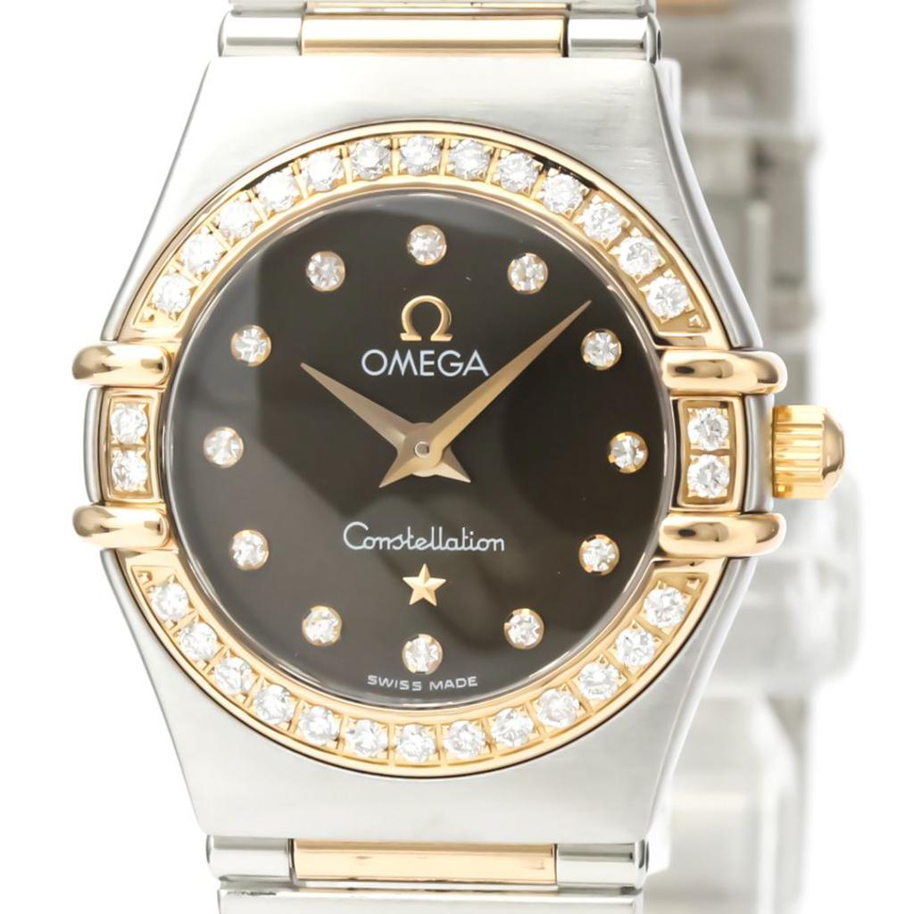 Omega Constellation Quartz Pink Gold (18K),Stainless Steel Women's Dress Watch 1358.60