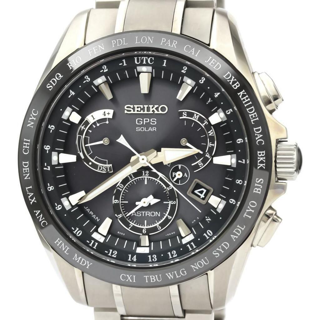 Seiko Astron Solar Ceramic,Titanium Men's Sports Watch SBXB077 (8X53-0AD0)
