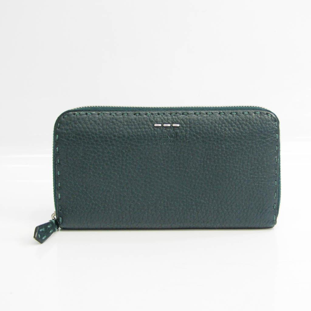 フェンディ(Fendi) 7M0210 ユニセックス レザー 長財布(二つ折り) ダークグリーン