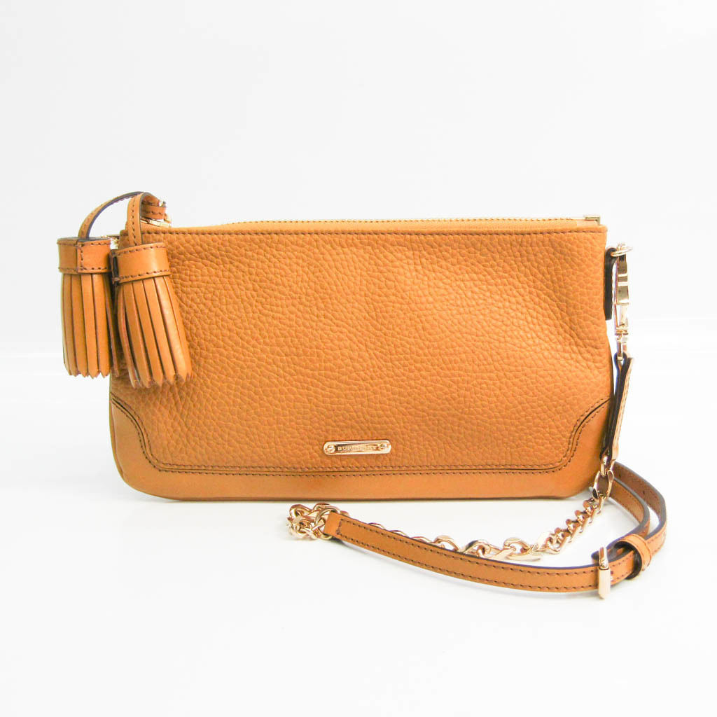Burberry 3882390 Women's Leather Shoulder Bag Dark Beige