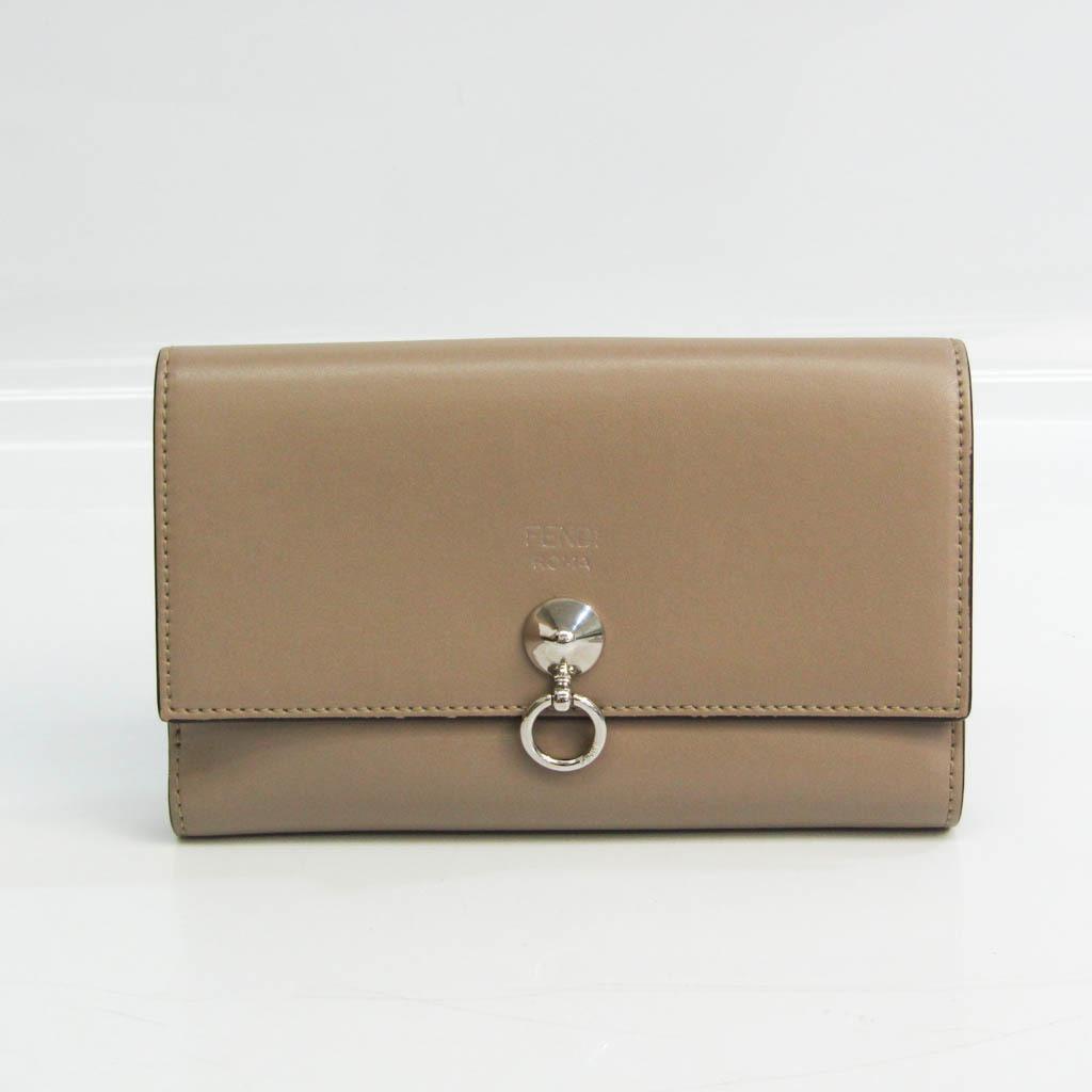 フェンディ(Fendi) バイザウェイ 8M0383 レディース  カーフスキン 中財布(二つ折り) グレーベージュ