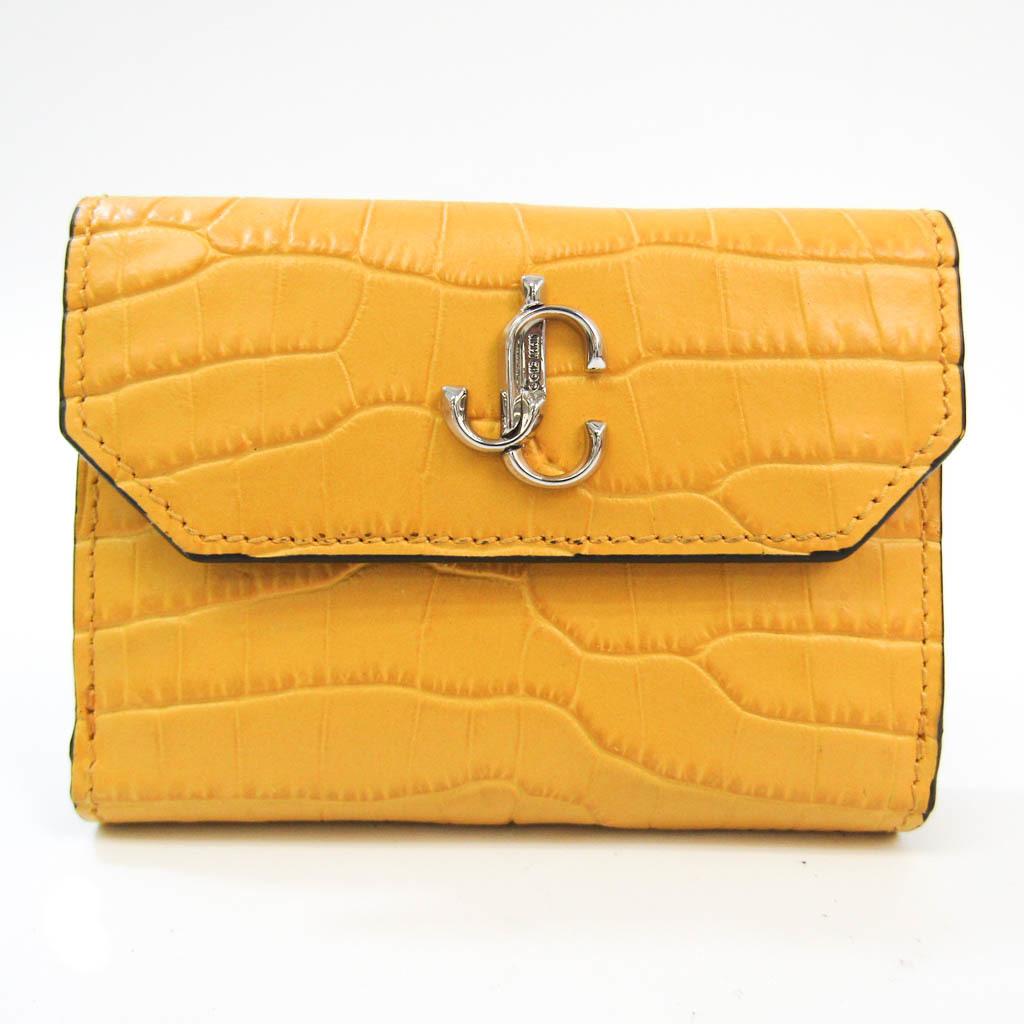 Jimmy Choo Women's  Embossed Leather Wallet (bi-fold)