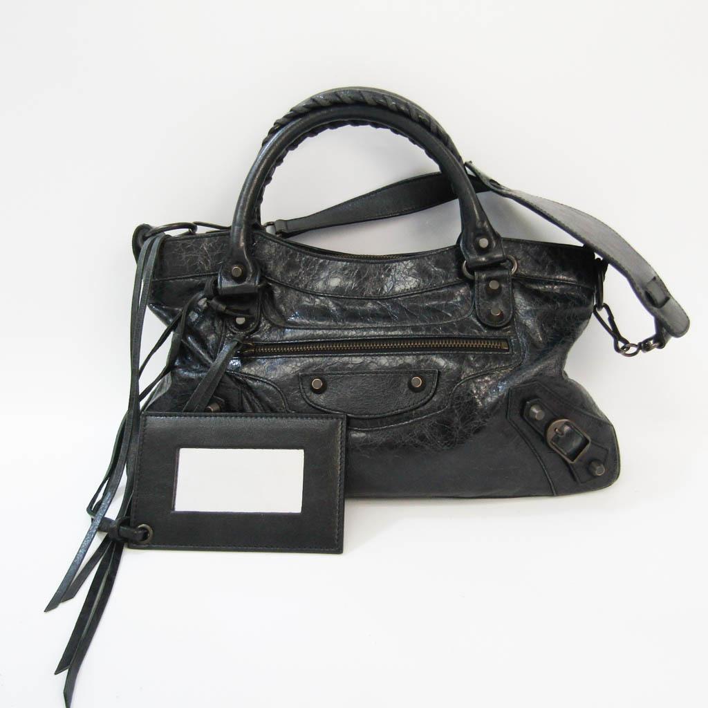 Balenciaga Fast 103208 Women's Leather Handbag,Shoulder Bag Black