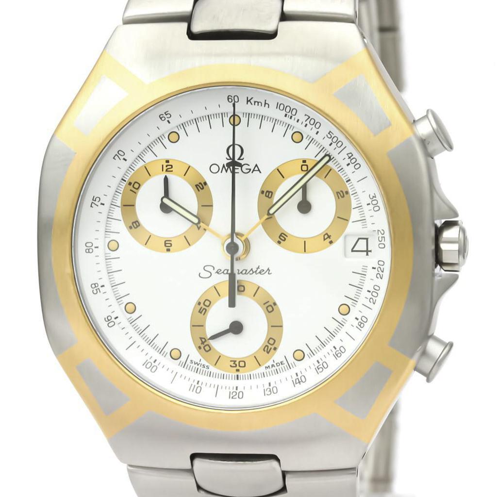 Omega Seamaster Quartz Stainless Steel,Yellow Gold (18K) Men's Dress Watch 386.1031