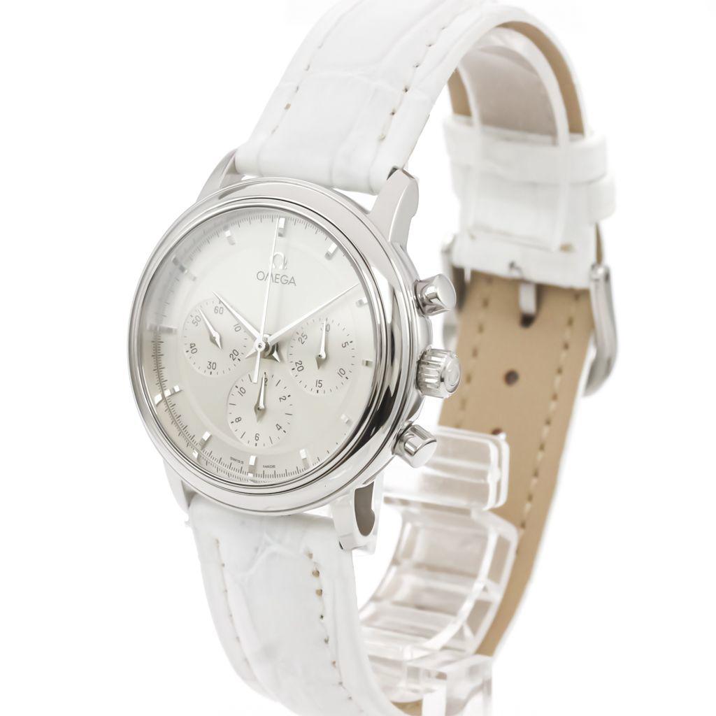 【OMEGA】オメガ デビル プレステージ クロノグラフ ステンレススチール レザー 手巻き メンズ 時計 4540.31